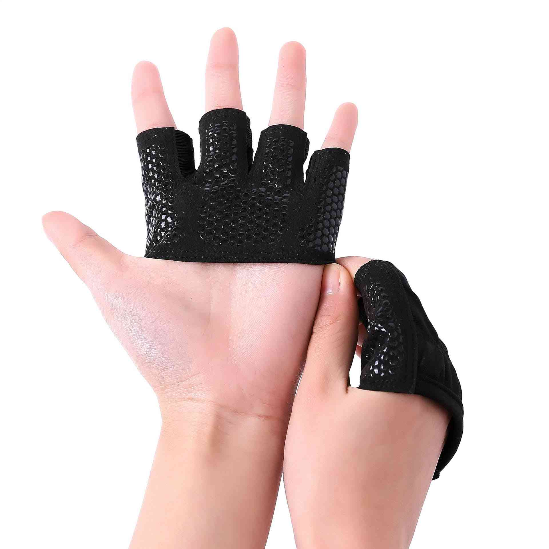 Gym Fitness Half Finger Gloves, Men, Women For Crossfit Workout Glove, Power Weight Lifting, Bodybuilding Hand Protector
