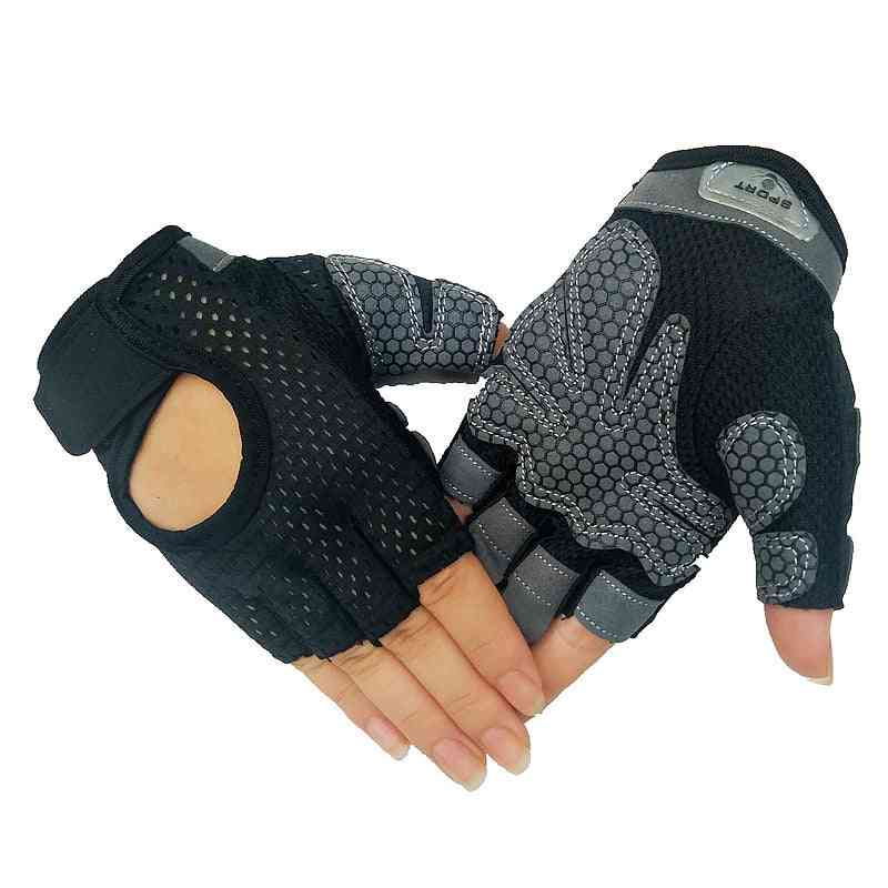 Professional Gym Fitness Gloves, Power Weight Lifting Women, Men, Crossfit Workout, Bodybuilding Half Finger, Hand Protector