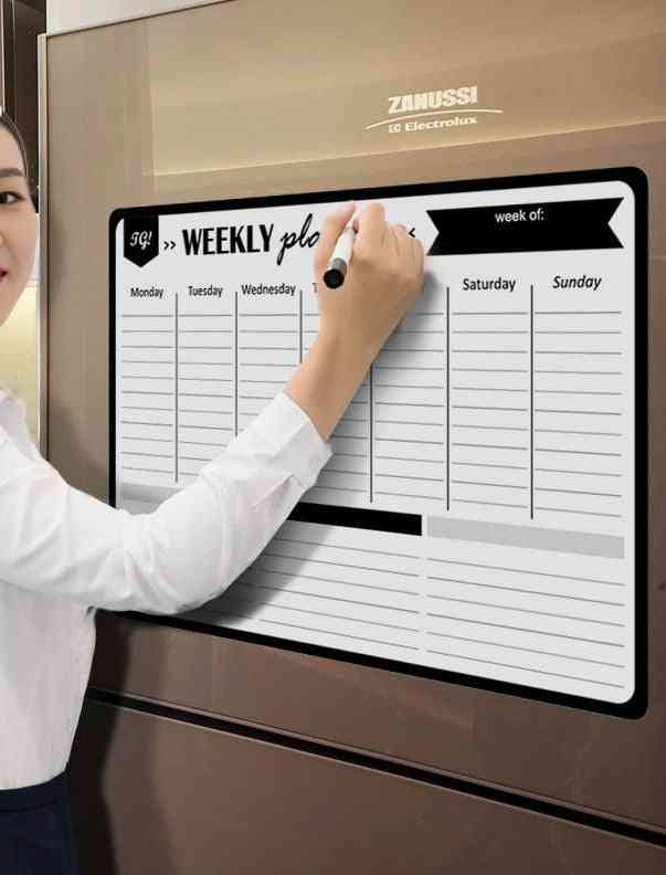 A3 Magnetic Weekly Planner Whiteboard