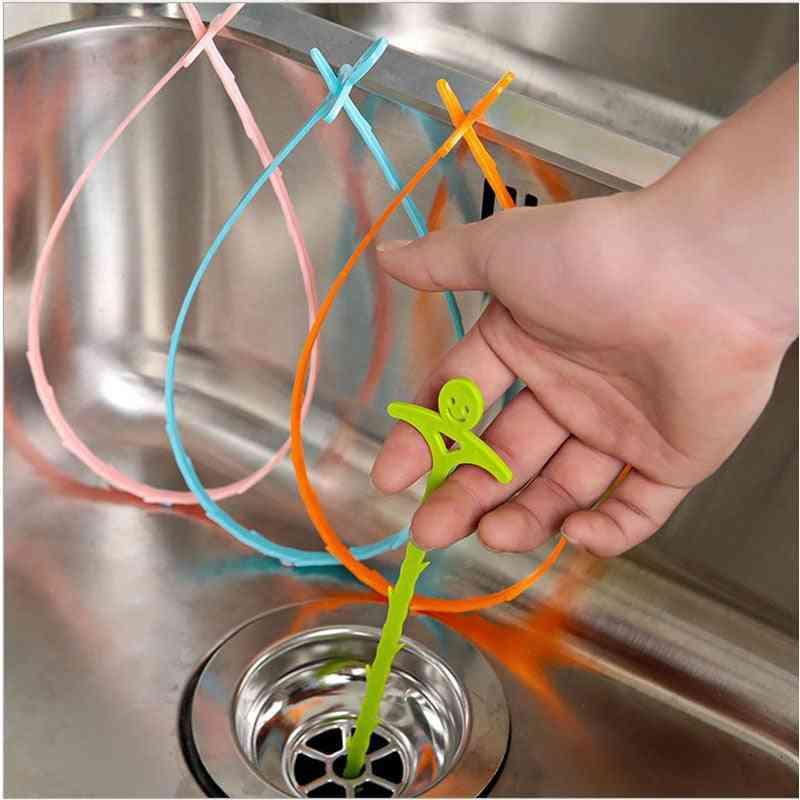 Sink Cleaning Hook Bathroom Hair Sewer Creative Cleaning Brush