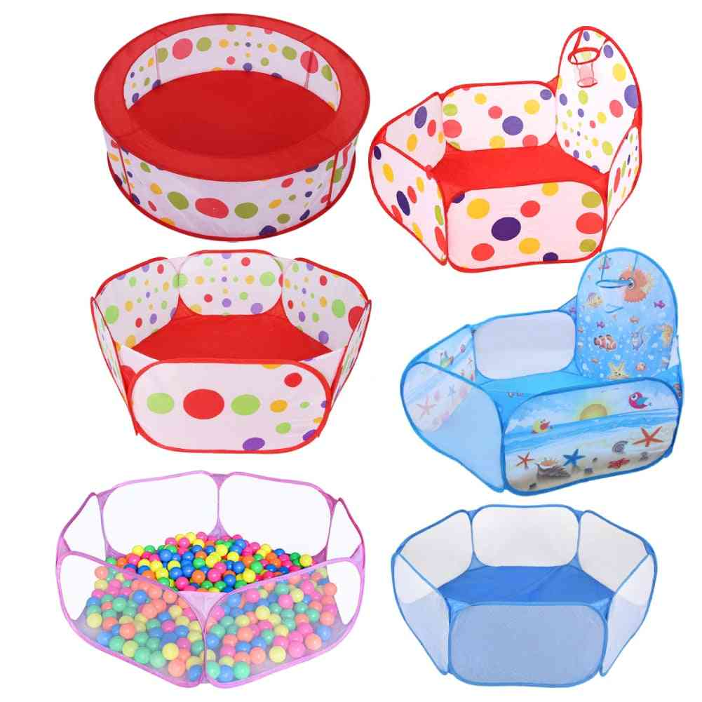 Portable Pool, Foldable, Outdoor Sports, Educational Toy With Basket