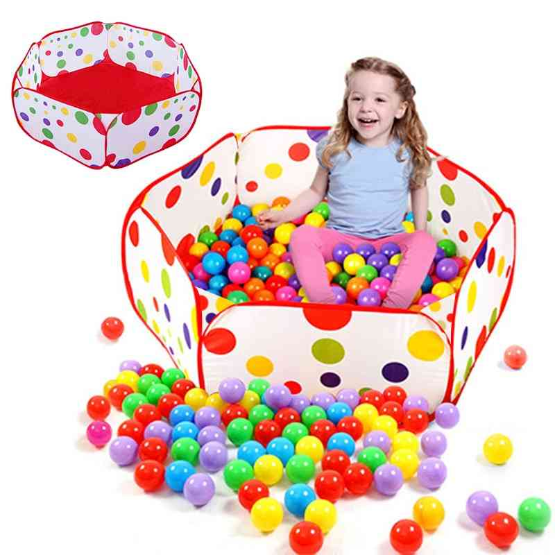 Dry Pool For Infant Ball Pits Round Foldable Ball Pool Ocean Ball Playpen Toy Washable Folding Baby Fence Room Decor
