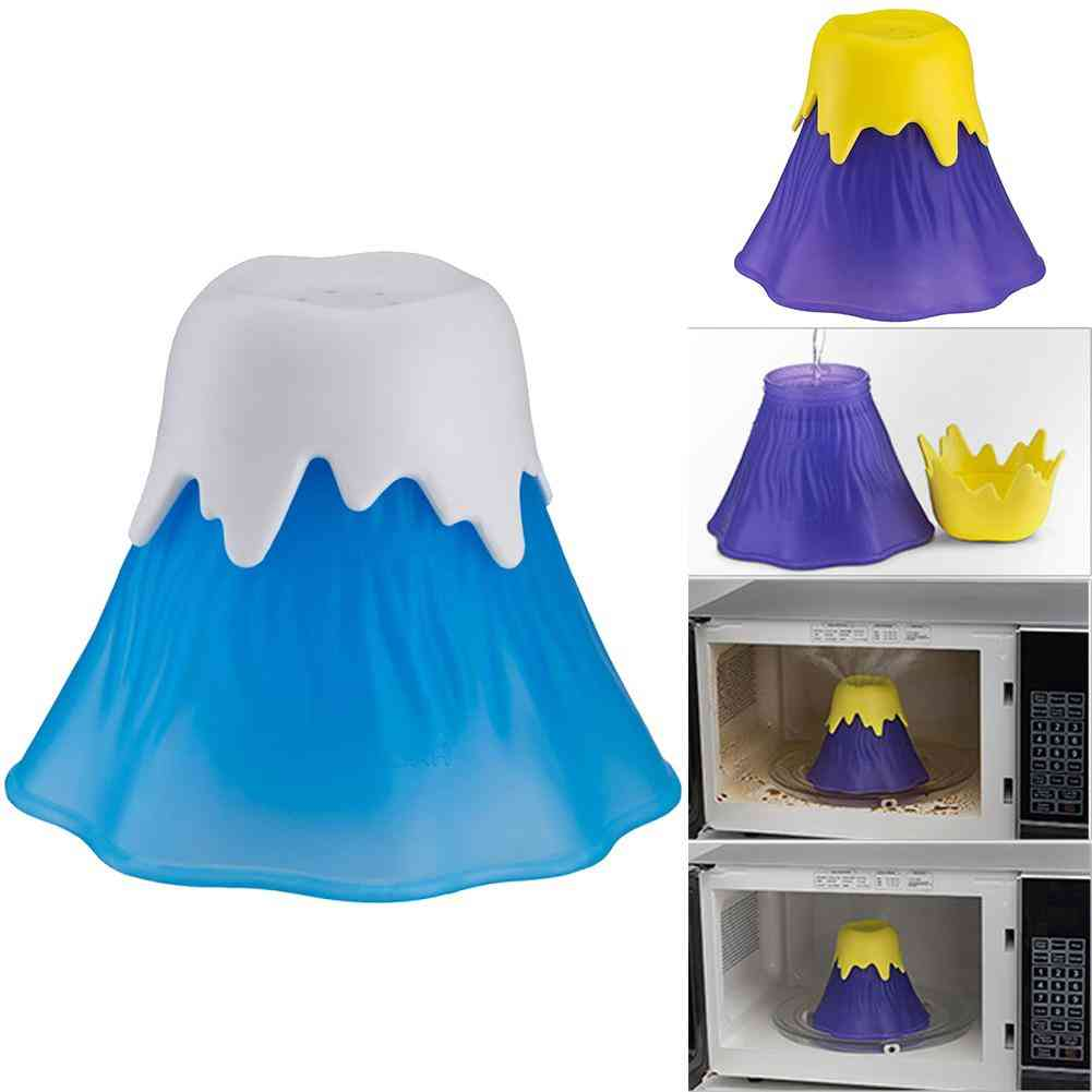 Kitchen Gadget Microwave Cleaner Angry Volcano Erupting Water Vapor Refrigerator Cleaning Tool