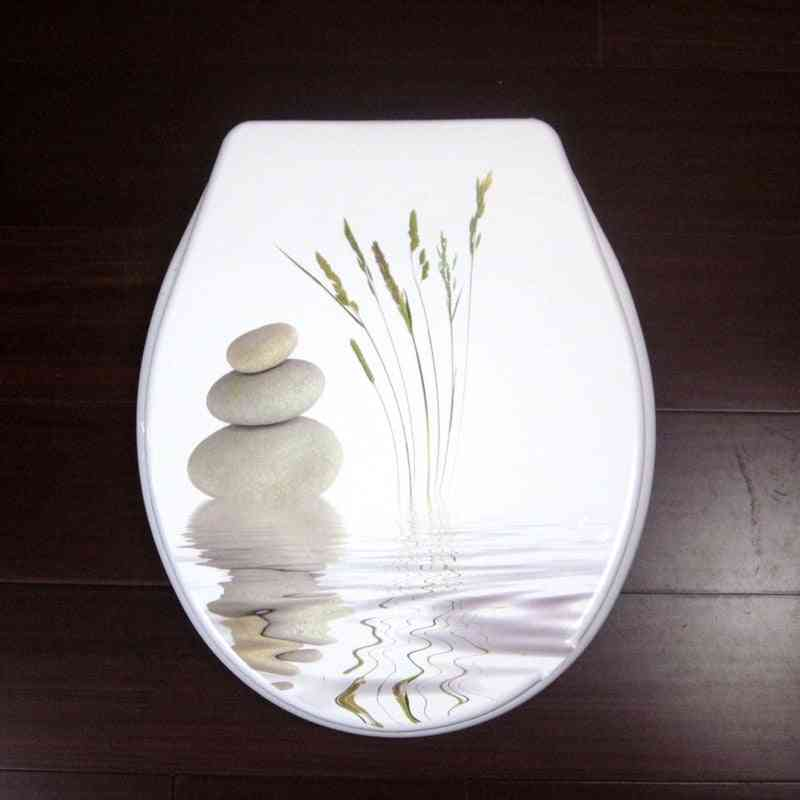 Toilet Lid Cover Standard Closing Quality Colorful Seat Set Fashion Bathroom Pp Material
