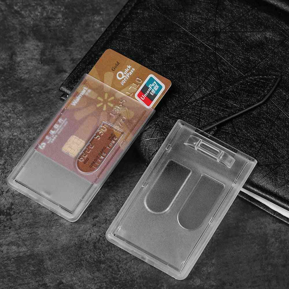 Portable Practical Durable Double-sided Hard Plastic Badge Work Id Card