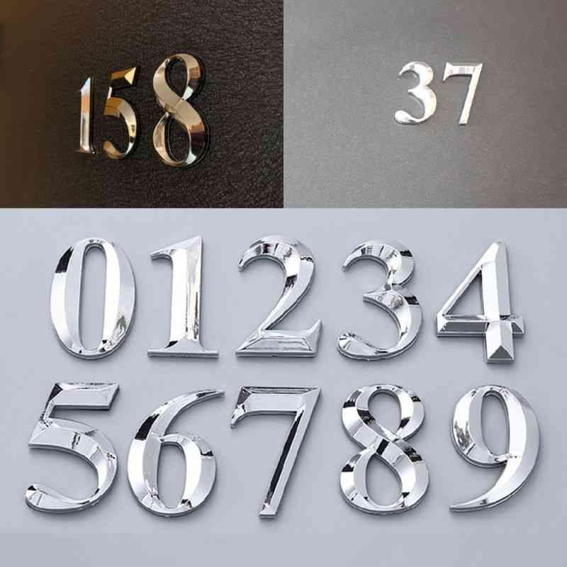 Self Adhesive Door Number Stickers