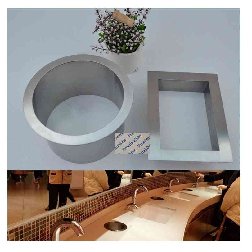 Stainless Steel Square Round Built-in Countertop Bench Top Waste Trash Chute Grommet