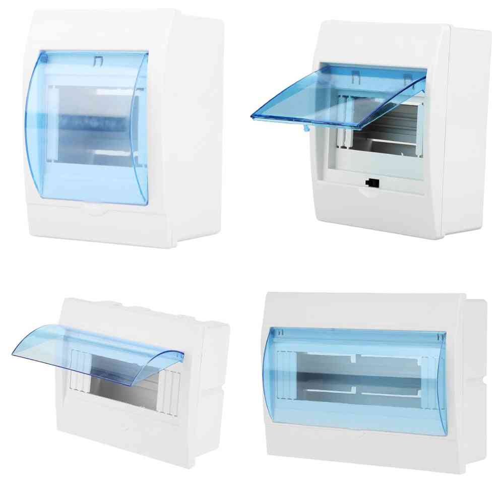 Circuit Breaker Distribution Protection Box Indoor Wall Mount Plastic Box With Electric Transparent Cover