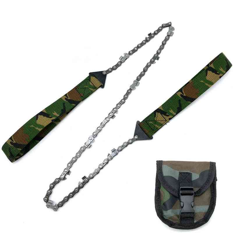 Portable Survival Chain Saw  Emergency Camping Pocket Hand Tool