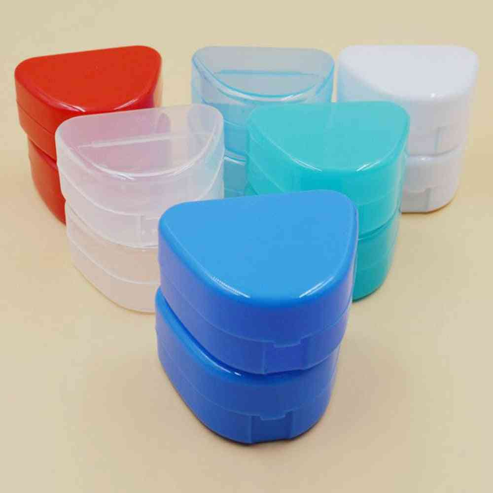 Baby Teeth Box Mouth Guard Case Dental Orthodontic Retainer Case