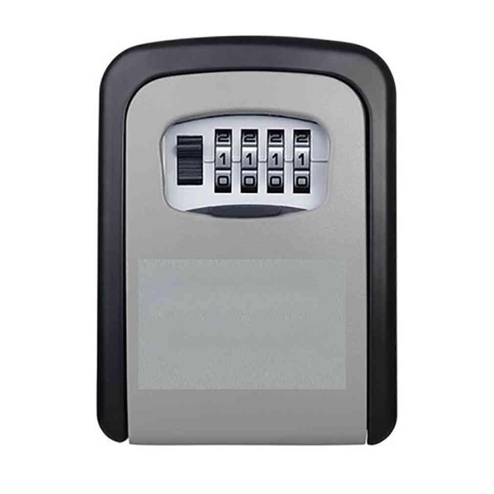 New Key Lock Box Wall Mounted Aluminum Alloy Key Safe Box