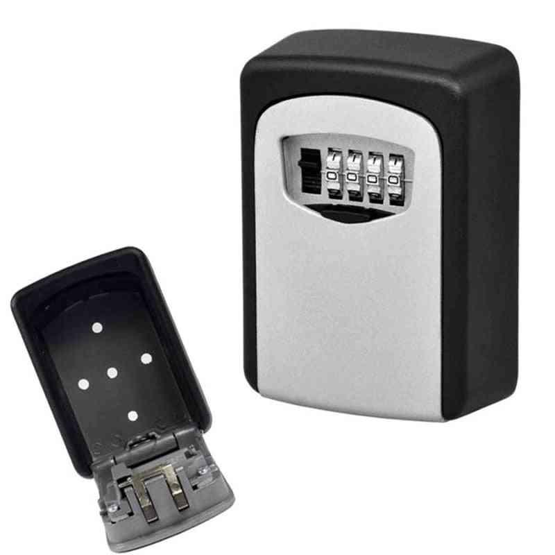 Anti-thief Wall Mounted Outdoor Key Storage Lock Box 4-digit Combination