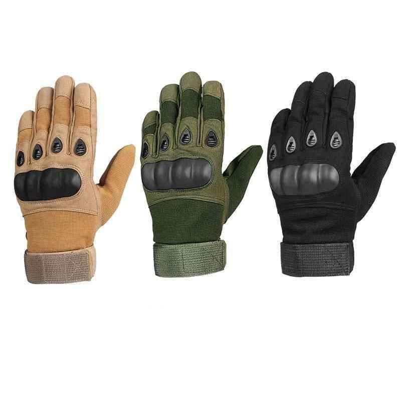 Super Fiber, Reinforced Leather, Biker Racing Gloves