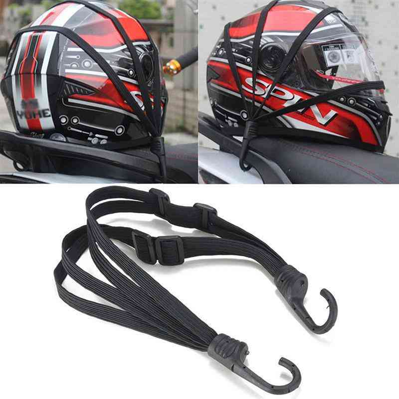Motorcycle Luggage Strap, Helmet Gears Fixed Elastic, Buckle Rope, Protective