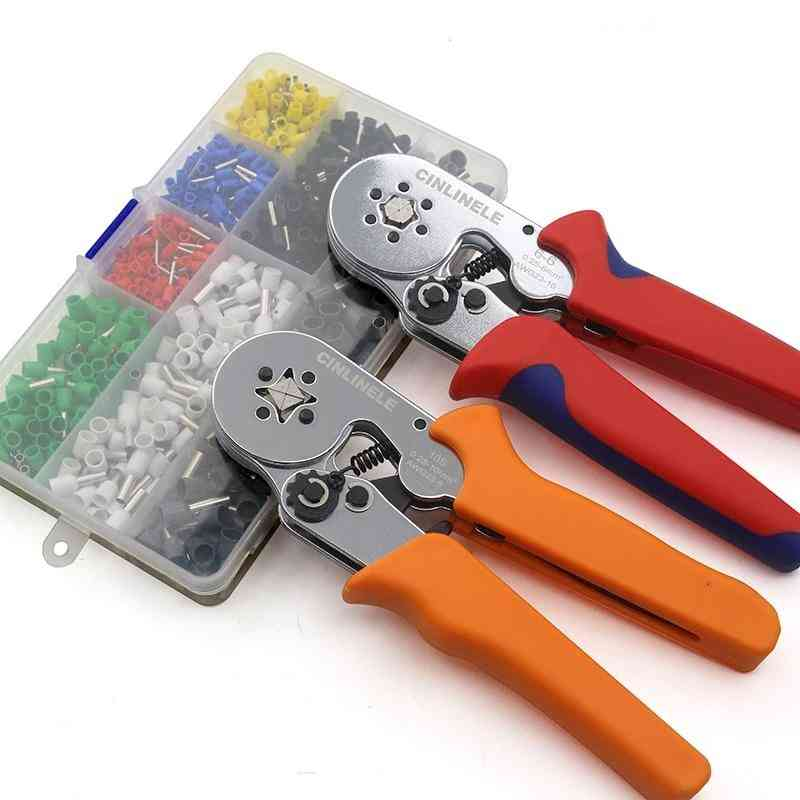 Crimping Pliers & Terminals Set Tube Bootlace Ve&te Terminals Hand Tool