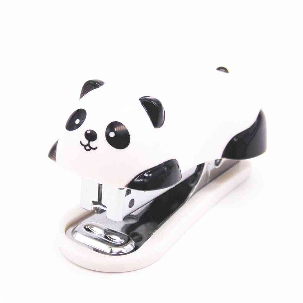 Mini Panda Stapler Cartoon Office School Supplies Stationery Paper Clip