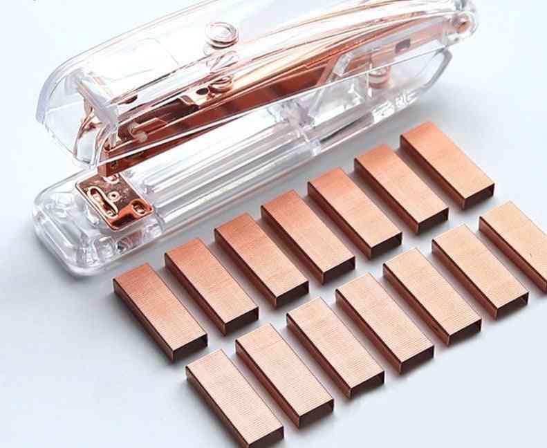 Luxury Rose Gold Metal Manual Stapler