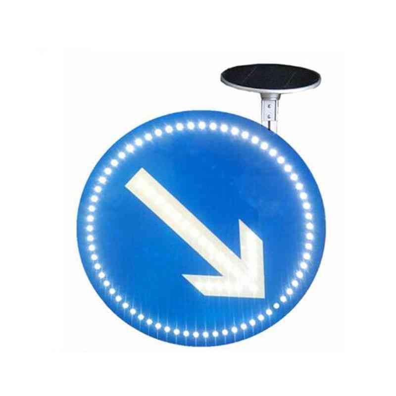 Aluminum Solar Traffic Sign With Flashing Led Light