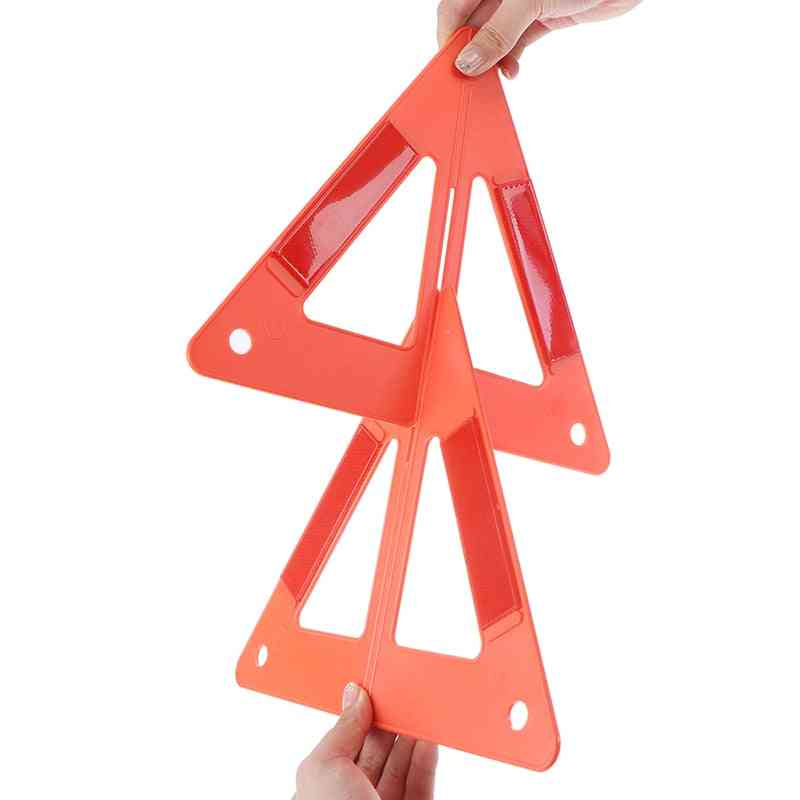 Car Breakdown Warning Triangle Emergency Reflective Safety Hazard Sign Cars Stop