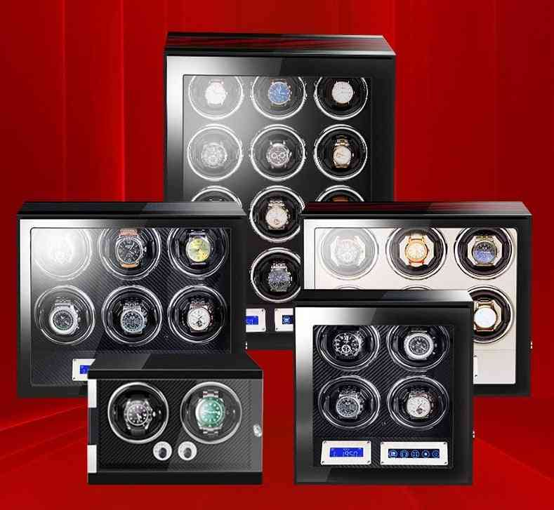 High-end Wood Watch Winder Box With Mabuchi Motor Lcd Touch Screen