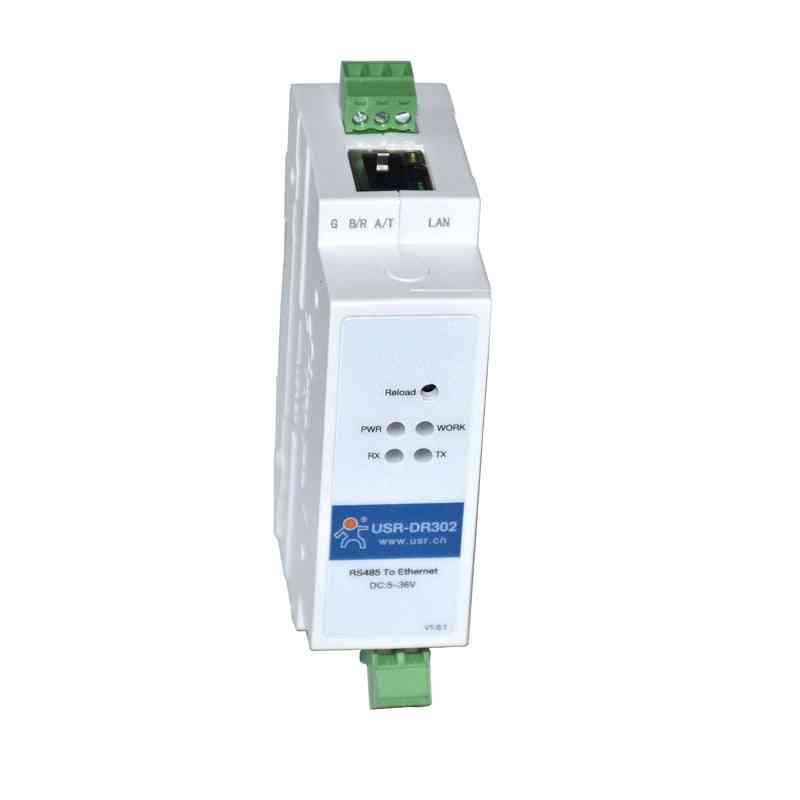 Din-rail Rs485 Serial To Ethernet Converter Bidirectional Transparent Transmission