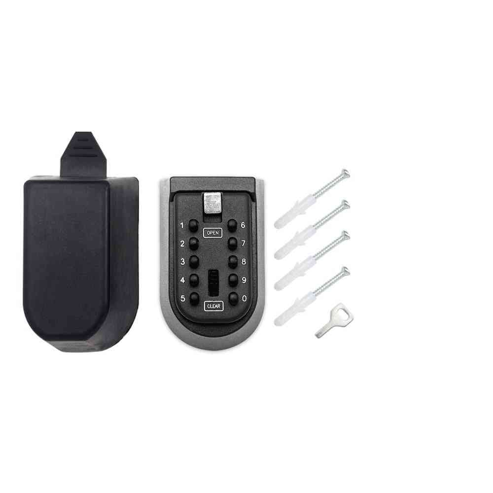 Wall Mounted Outdoor Key Storage Lock Box, Resettable Code Key Holder
