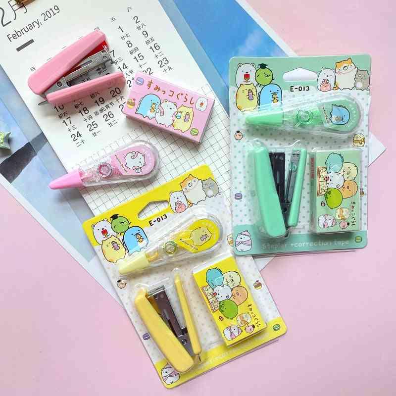 Cute Cartoon Sumikko Gurashi Mini Stapler Set