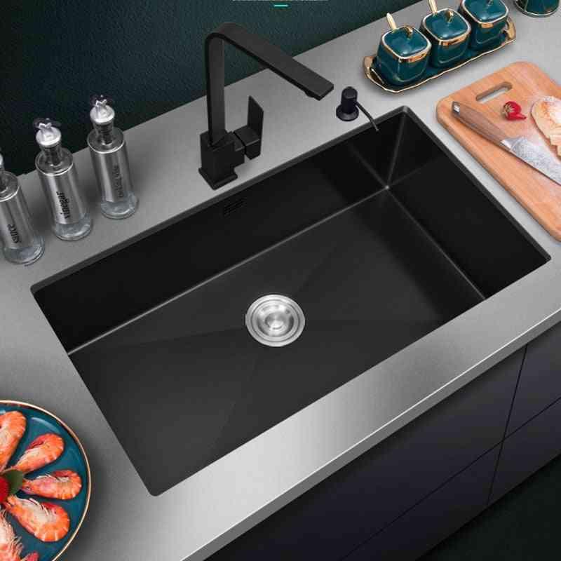 Single Sink Kitchen Vegetable Washing Basin.
