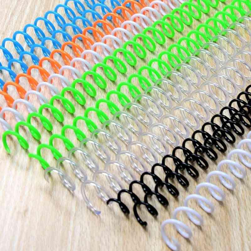 Notebook Binding Spiral Ring Book Plastic Single