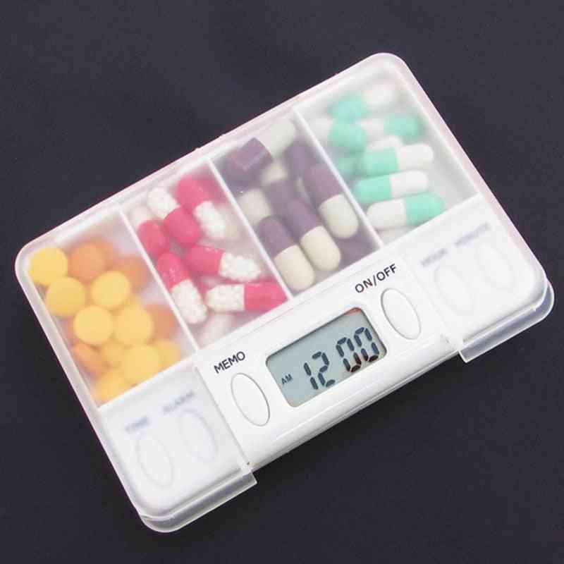 4 Grid Pill Box Medicine Storage Box Pills Organizer Container