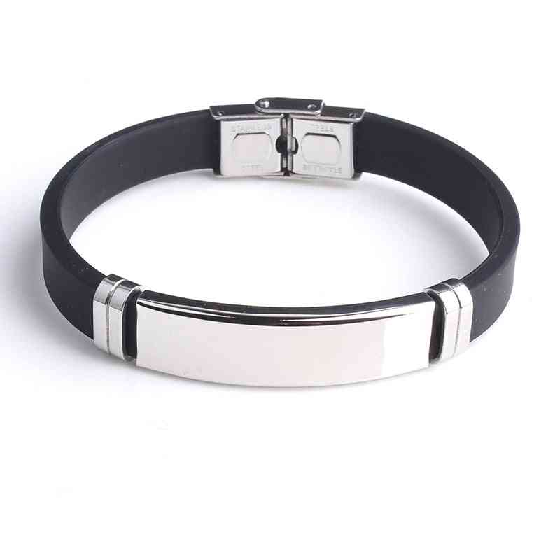 Bracelet Smooth Silicone, Stainless Steel Bracelets For Men, Personality Jewelry