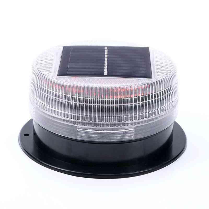 Solar Warning Light E Alternating Sensitive Strobe Flash 6 Led Safety Lamp