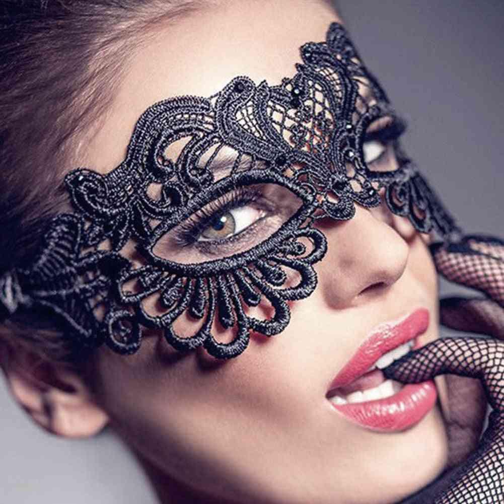 Women Hollow Lace Masquerade Face Mask
