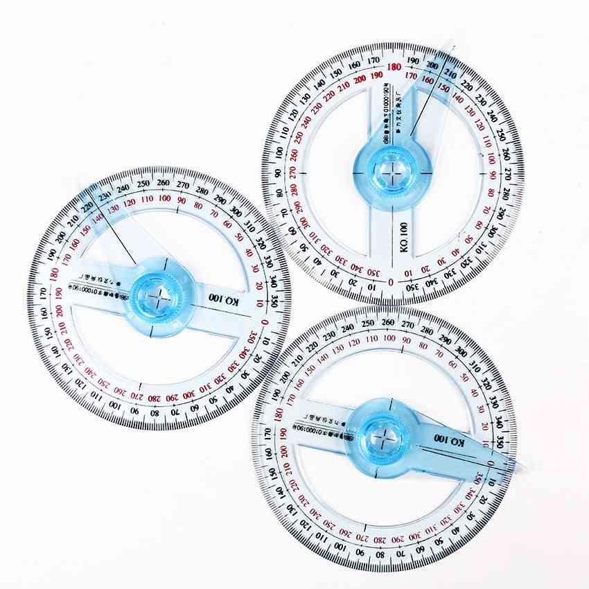 Transparent Plastic Degree Diameter Protractor Ruler