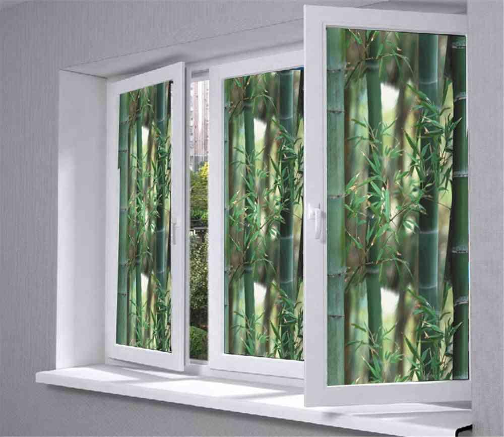 Pvc Glass, Window Film, Treatments Decor, Green Bamboo