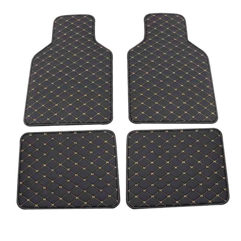 Pu Leather, Car Floor Mat, Waterproof Foot Pads Protector