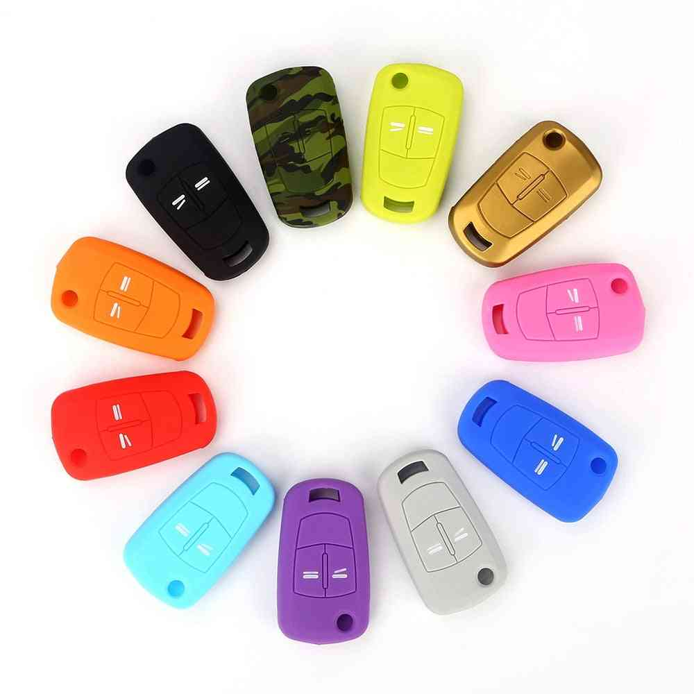 Silicone Car Key, Cover Case Fob With 2-buttons, Remote Key Shell
