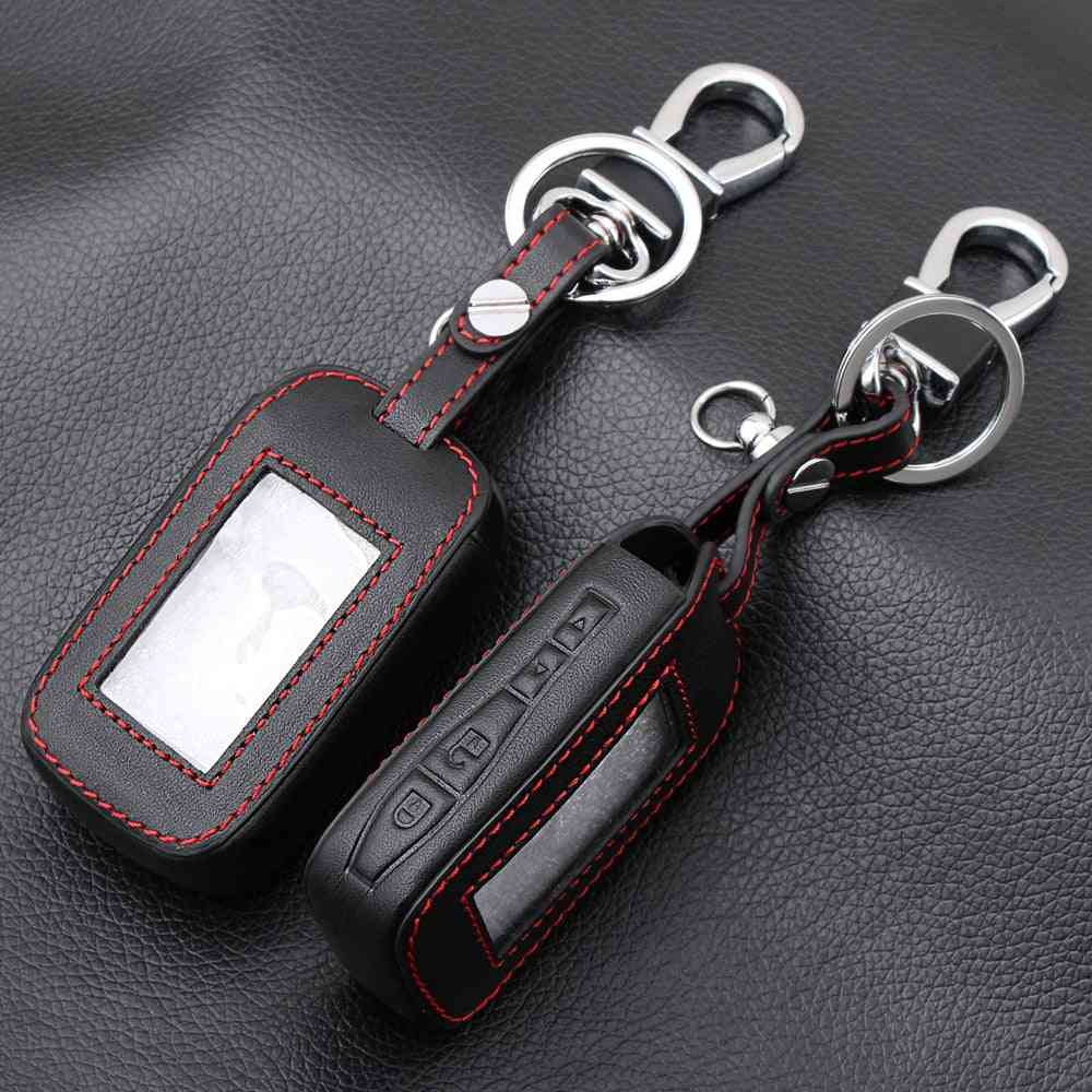 Leather Key Fob, Star Line, Lcd Remote, Key-chain With Transmitter, Cover Cases