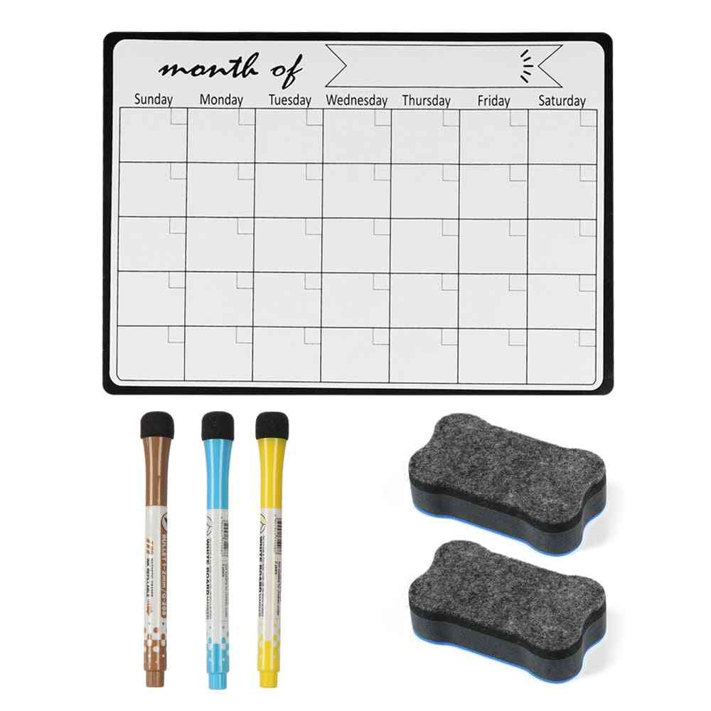 Magnetic Monthly Weekly Planner Calendar Table