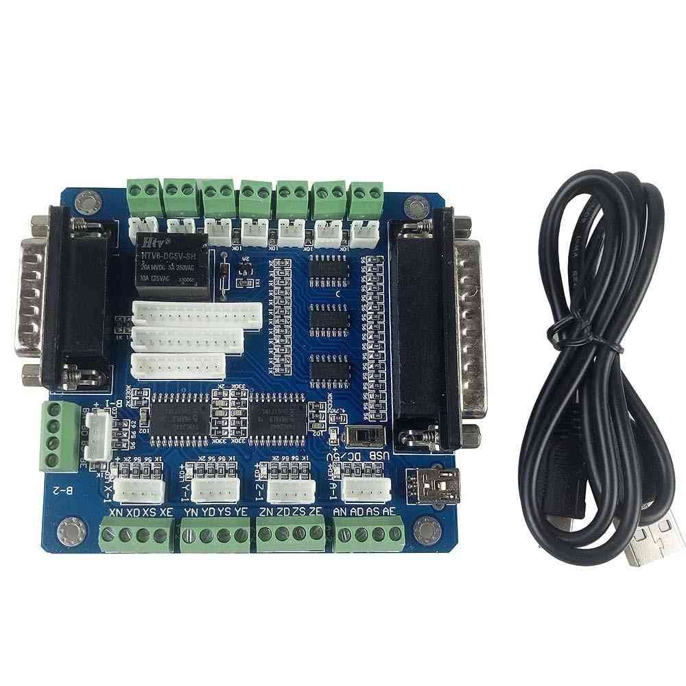 5 Axis Mach3 Usb Cnc Breakout Controller Board For Engraving Machine