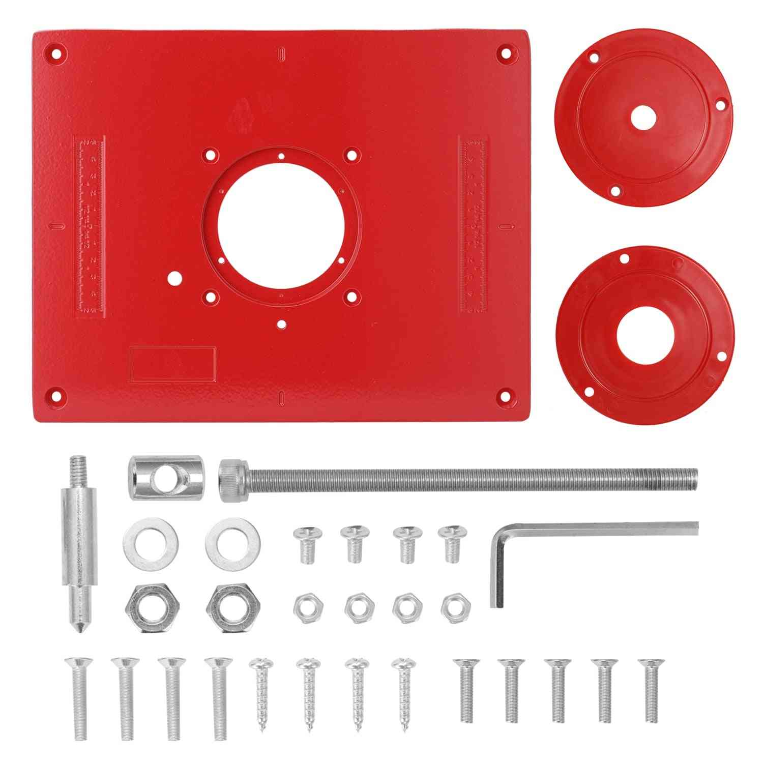Aluminum Alloy Router Table Insert Plate Tool