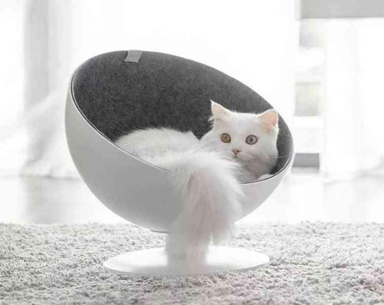 Cat Beds Mat Pet House Rotational Interaction House Sleeping Bed Fiber Material Supplies