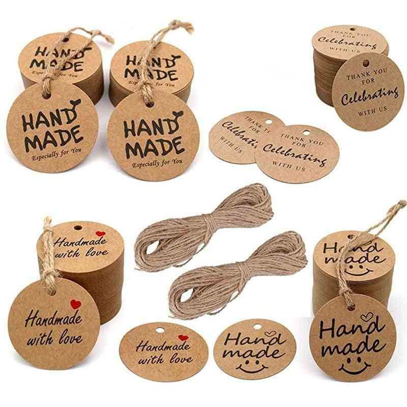 Kraft Paper Tags Thank You Decoration Packaging Hang Paper