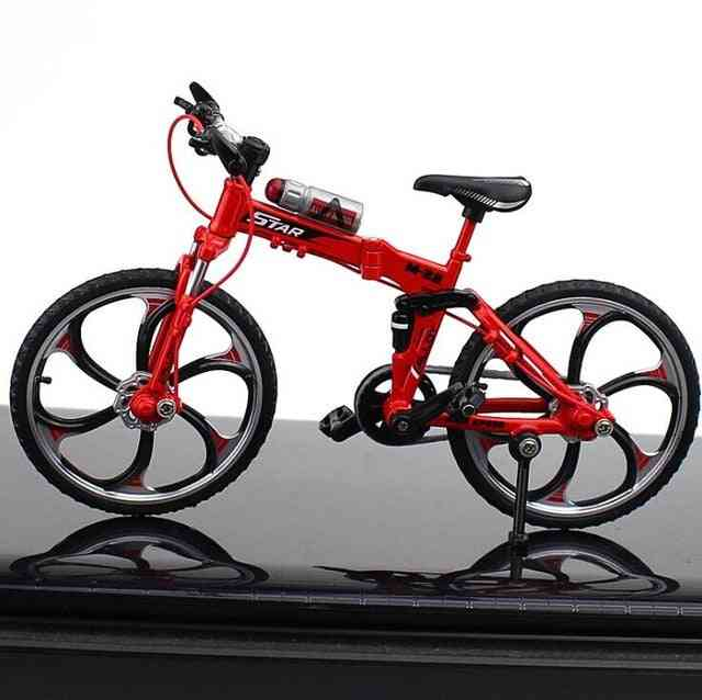 Alloy Model Bicycle, Diecast Metal Finger Mountain Bike, Racing Simulation, Adult Collection For Children