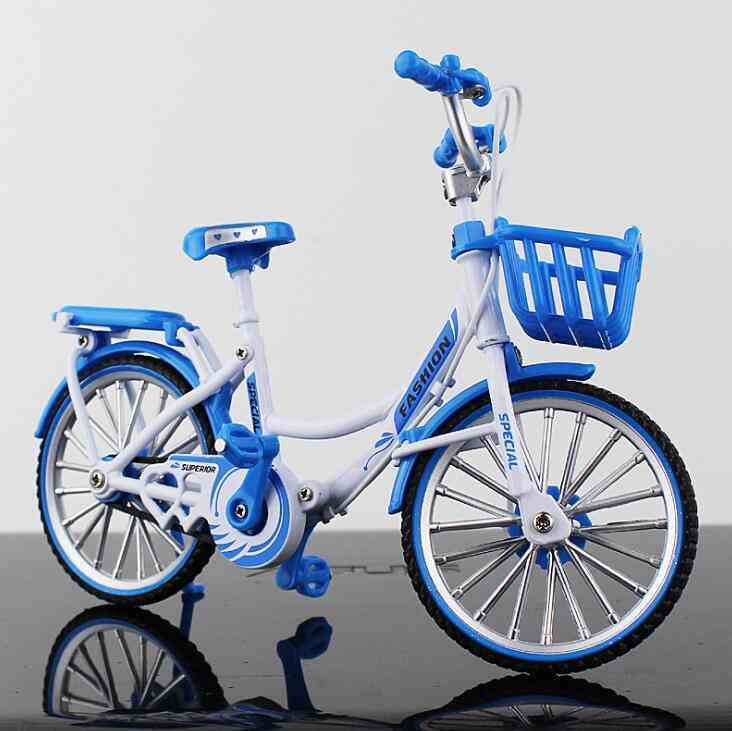 Mini Alloy Bicycle, Model Metal Finger Mountain Bike, Racing Toy, Bend Road Simulation Collection For Children