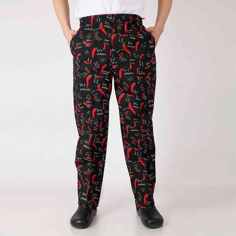 Hotel Restaurant Bakery Catering Elastic Trousers Zebra Pants, Chef Uniforms