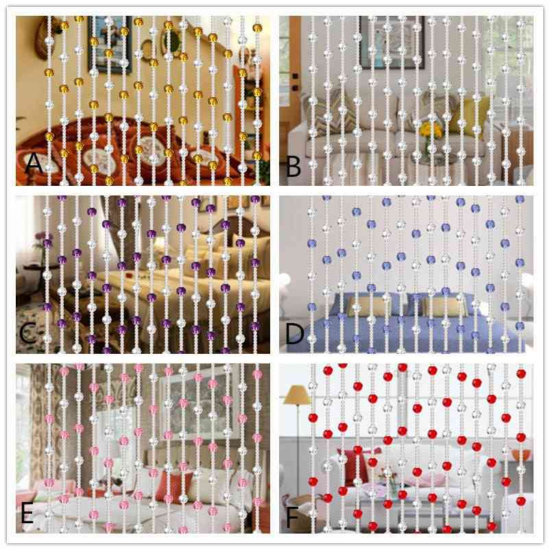Home Decoration Crystal Glass Rose Bead Curtain
