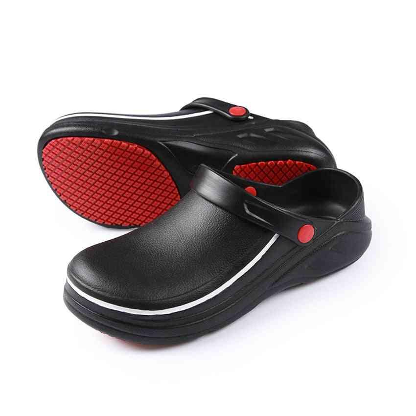 Man Restaurant Kitchen Wear Chef Shoes Anti-slip Oil-proof Soft Sandals