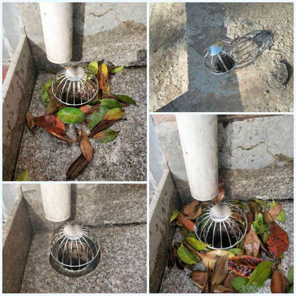 Drain Balcony Garden Debris Tool Floor Outdoor Stainless Steel Stops Leaves Filter Strainer Anti-clogging Cleaning Gutter Guard