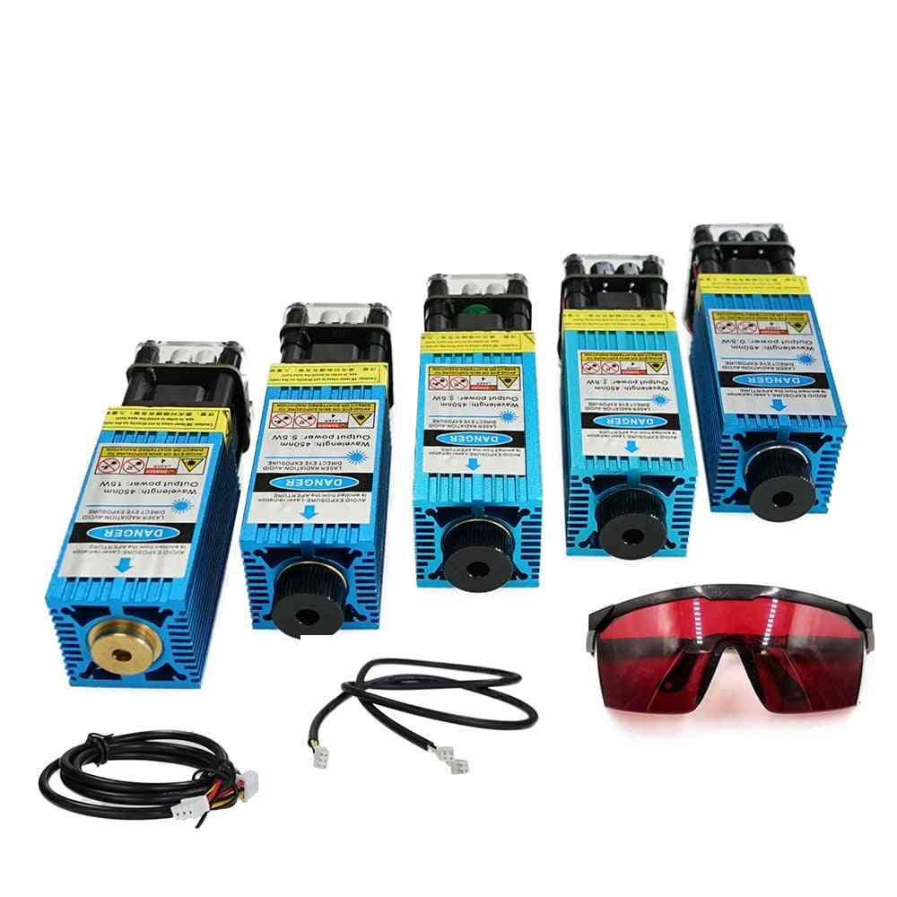 Focus Blue Laser Engraving And Cutting Ttl/pwm Control Laser Tube Diode+glasses